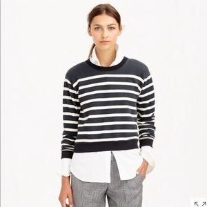 J. Crew stripe cropped sweatshirt